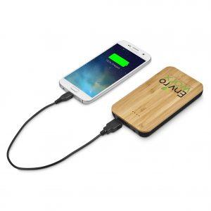 Okiyo Sumatra 6000mAh Bamboo Wireless Power Bank